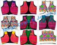 Indian Handmade jacket shrug-Wholesale Kutch embroidery short jacket-Indian traditional Gujarati Navratri koti