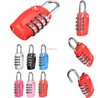 New Fashion Resettable 4 Digit Dial Combination Travel Luggage Suitcase Safe Code Lock Pink