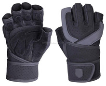 Hot Selling Weight Lifting Body Building Gloves / Gym Strap Training Leather Grip / Professional Gym Weightlifting Gloves