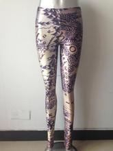 galaxy leggings spandex knitted punk rock yoga pants milk silk sport solid printing leggings version of the world map sexy mid