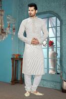 Cotton Silk Fabric Kurta Churidar