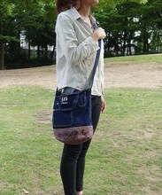 Hot-selling and Popular canvas tote bag [ BUCKET BAG ] for daily use , other design also available