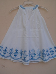 Summer Season and super cute sweet,Casual Style White color embroidery baby dress