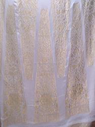 PURE CHIFFON SILK FABRIC FOR MAKING LONG KALI DRESS 140913