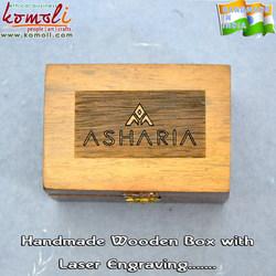 Teak Wood custom wooden box with laser engraving wood box - wooden jewelry box   Packaging Box   Antique Keepsake Box