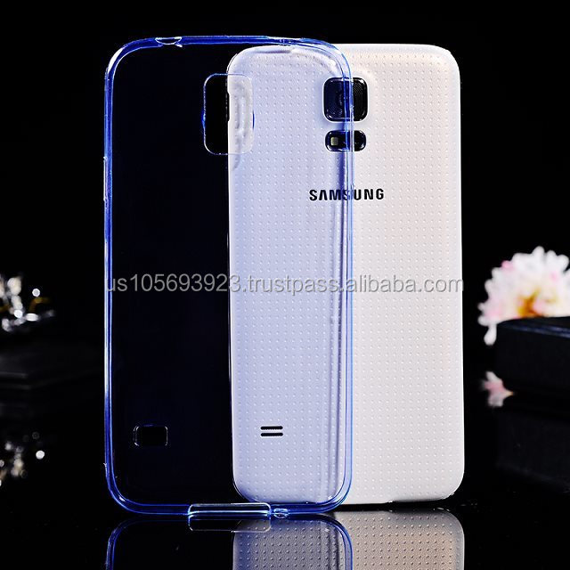 2014 Ultra Slim Crystal Clear Soft Combo TPU Case For Sumsung S5 With 6 Colors Stocks now ,Factory Price