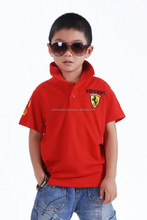 Easy fit 100% cotton short sleeve kids polo shirts wholesale