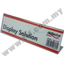 Price Tag Holder, L Shape Tag Holder L180 x H55mm, Acrylic Display, Acrylic Display Stand,Display Stand,Exhibition Stand
