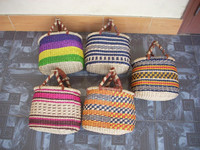 Eco-friendly, beautiful, color mini straw bag, seagrass bag, good price, made in Vietnam