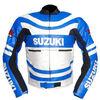 Made In Pakistan Suzuki world stander Motorcycle Biker Protective Premium Quality Cow Grain Leather Jacket