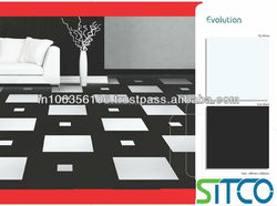 Tile with stain resistance, hygienic, high gloss surface, stain resistance and low maintenance