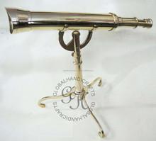Nautical brass telescope with Brass stand,brass telescopes,maritime telescopes,vintage telescopes
