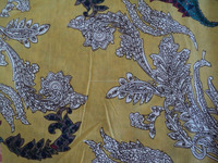 Light Yellow color womans garments wear beautiful cotton fabric / Home textile cotton fabric