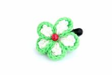 Beautiful Knitted Flower Hand Crochet Hair Accessories Thailand - Green