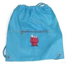 Nylon drawstring backpack with zipper outside