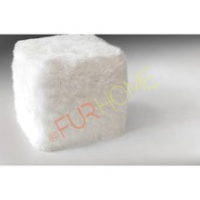SHEEPSKIN GENUINE CUBE COVER PUFF WHITE