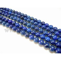 "16"" Grade A Round Dyed Natural Lapis Lazuli Beads Strand, hole: 0.8mm, about 67pcs/strand"
