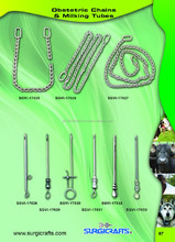 2015 Brand New Obstetric Chains & Milking Tubes, Available in different styles, Veterinary Instruments in wide range