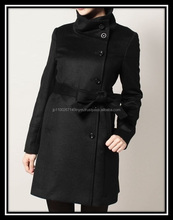 High quality women black fur coat Cashmere Coat for any genelations , small lot order also available