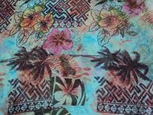 Aqual color pattern georgette traditional design digital printed fabric / beachwear wear