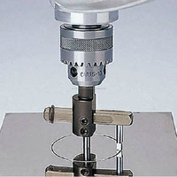 Compass cutter with square hole drill bit for stainless board from japan