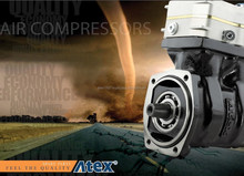 Atex Air brake compressors suitable for Daf , Volvo, Scania Renault Man Mercedes and Iveco