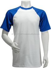 100% cotton mens fashion tshirt / wholesale plain two tone tshirt / custom men's short sleeve t shirt