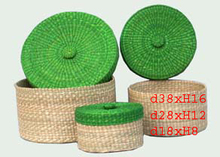 Vietnam Seagrass Basket With Lid