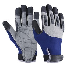 High Quality All Black Safety Equipment Hand Protective Mechanic Gloves in Security & Protection