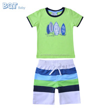 Newest Fashion Beach Wart 2PC Wholesale Clothing Cheap Baby for Boys