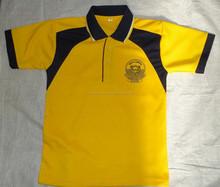 2015 High Quality Cotton Opposite Collar T-shirt / Boys Uniform Tshirt