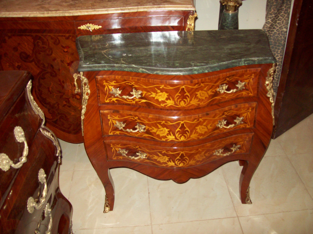 Antique wooden commode rococo style louis furniture marble for What is the other name for the rococo style