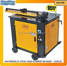 Hydraulic stirrup steel bar bending machine YGW-18
