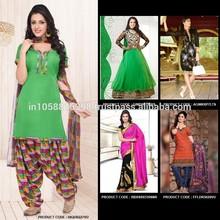 Compras en línea laindia/trajes de damas salwar vestido de material