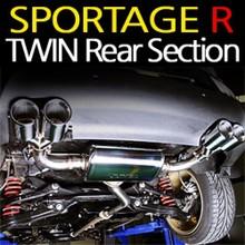 [JUN,B.L] Sportage R - Twin Rear Section Muffler Set