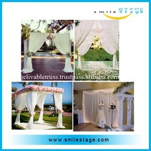 aluminum pipe and drape adjustable portable pipe and drape for wedding decoration