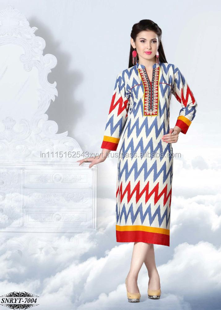 Stand Collar Neck Designs For Kurtis : Collar neck designs kurtis long for women buy