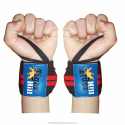 Weight Lifting Wrist Wrap made cotton + rubber width 3 inches length 14 inches