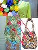 Kebaya Dress Japanese Peranakan and Kimono Tote Bags