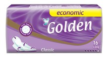 GOLDEN 16 pcs ECONOMIC PACKWINGED REGULAR SANITARY PADS LONG TYPE