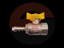 brass gas ball valve with butterfly handle EN331 standard