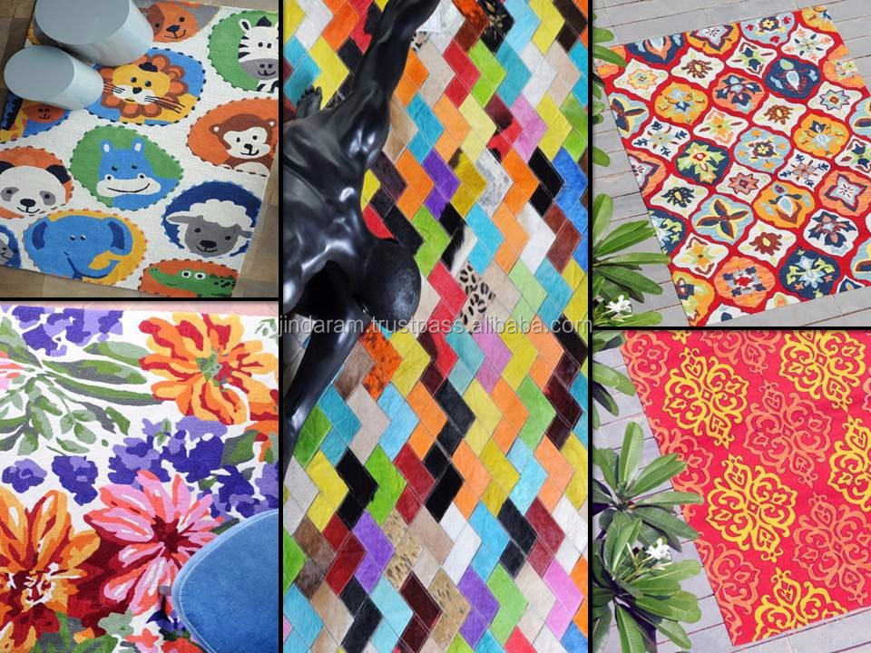 Colourful floral design carpets.JPG