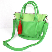 Fresh Green bags in japan sling bag japan pu bag for women , handbag ,office and shopping leather purse