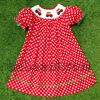 Car with X-mas tree hand smocked bishop dress - BB370