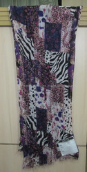 Fancy Printed Rayon Stole