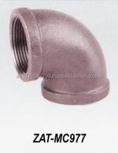 "New 4"" inch Malleable Iron 90* Degree Elbow Black Pipe Plumbing Fitting ZAT-MC977"