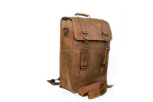 Genuine Leather Messenger Laptop Briefcase Bag Satchel Brown Color