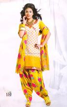 Wholesale Punjabi Dress Material-Patiyala Dress Material-Cotton Printed Salwar Kameez-Party wear Suit @ USD 12