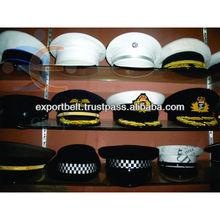 OEM Customized Military Peak Caps | Embroidered military peak cap with badge | military navy air force peak cap