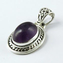 Floating In The Breeze !! Amethyst Handmade 925 Sterling Silver Pendant, Gemstone Silver Jewelry, Indian Silver Jewelry
